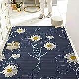 Alfombra Infantil Grande Cojin para Lectura Infantil Diseño cálido de Alfombra, impresión de Flores, Sala de Estar, tamaño de Estera de Puerta Puede ser Personalizado 160X230CM Carpet