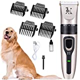 Dorakitten Pet Hair Clipper Set Adjustable Low Noise Cordless Dog Hair Trimmer