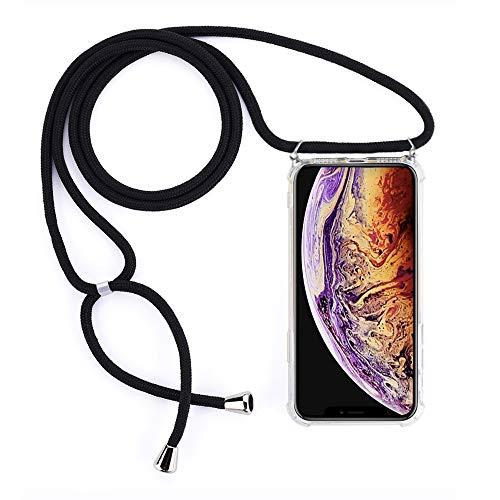 Amokee Handykette Hülle iPhone XR, Handyhülle iPhone XR Silikon Schutzhülle mit Band, Handyhülle Halskette Kordel Schnur Case Necklace Schutzhülle für iPhone XR Schnur Kordel mit Case zum Umhängen