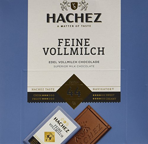 Hachez Täfelchen Feine Vollmilch 44%, 4er Pack (4 x 165 g)