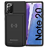 NEWDERY Galaxy Note 20 Battery Case 6000mAh, Qi Wireless Charging Supported, Rechargeable Power Extended Backup Charger Case for Samsung Galaxy Note 20 (6.7' Black)