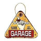 DiiliHiiri Cartel de Chapa Placa Retro Letrero Estilo Vintage Metal para Decoración Hogar (Garage)