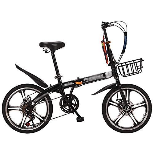 N   A HAIZHEN -Bicicletta Pieghevole,Mountain Bike con Ruote da 16 Pollici ,Bici Leggera in Alluminio A 7 velocità per Giovani Adulti
