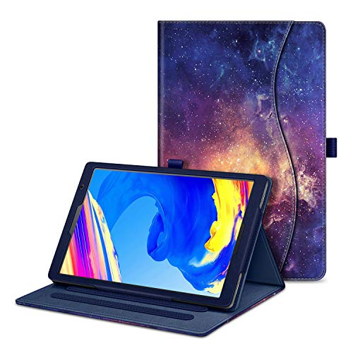 FINTIE Case for VANKYO MatrixPad S20 10 inch Tablet - [Corner Protection] Multi-Angle Hands Free Viewing Folio Smart Stand Back Cover with Pocket, Pencil Holder, Galaxy