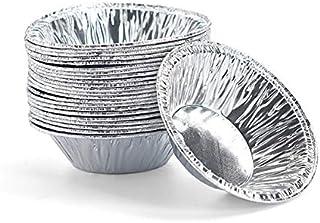 """KEISEN 2 4/5"""" Mini pie pan1.2oz Foil Utility Cup Pie Pan Tart Pan 100/PK"""