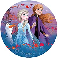 Dekora-114382 Decoracion Tartas de Cumpleaños Infantiles en Disco de Oblea de Disney Frozen-20 cm (114382)