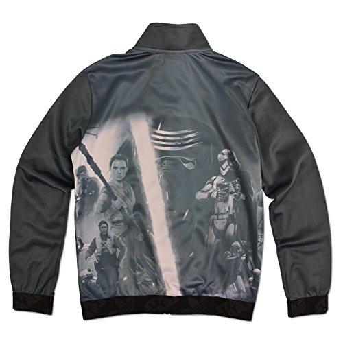 adidas Originals Star Wars Kylo Ren Stormtrooper Rey Luke Kinder Firebird Jacke, Größe:104, Farbe:Grau