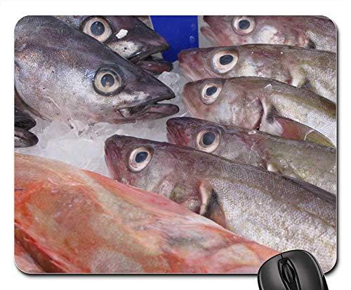 Mousepad Fischhering Geräuchertes Tier Frisches Essen Meeresfrüchte 25X30Cm Desktops Bürogeschenk Schlafsaal Mauspad Studentenspiel Gummi Weihnachten Mausmatte Computertastatur La