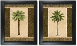 wallsthatspeak 2 Framed East Indies Palm Tree Art Prints Tropical Home Decor 8x10