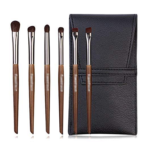 Pinceaux de Maquillage, Kit de pinceaux de Maquillage Kabuki Base Mélange Poudre Correcteur de fards à paupières Kit Pinceau de Maquillage 6pcs