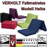 Klappmatratze Faltmatratze Verholt Heike schwarz - Made IN Germany - als Gästebett/Gästematratze/Klappbett einsetzbar