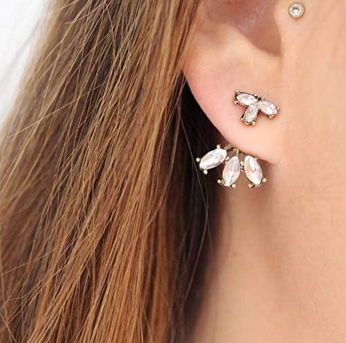 Gold Ear Max 61% OFF Jackets + latest Crystal Earrings- Simple Ea Jacket Dainty