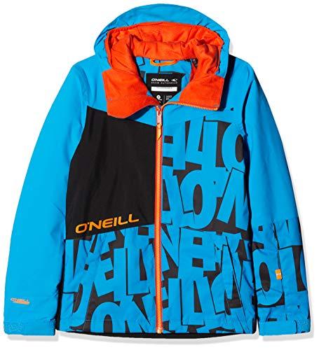 O'Neill Jungen Hubble Jacket Snow, Black AOP w/Blue, 164