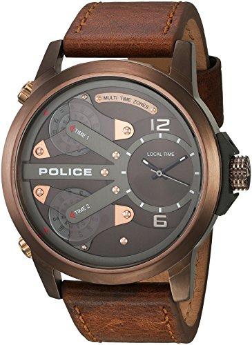 Police King Cobra PL14538JSBN.65A - Reloj de Pulsera para Hombre, Color Negro, Gris y Azul Claro