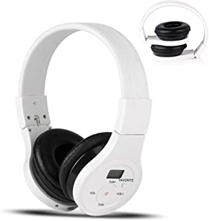 EXMAX Wireless Over Ear Headphone FM Stereo Headset Radio Bluetooth Music Receiver with Noise Reduction NRR 25dB Safety Earmuffs Hearing Protection Player with AUX Audio Cable Noise Canceling Headset