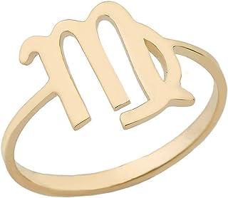 CaliRoseJewelry Yellow Gold 10k Virgo Zodiac Horoscope Ring