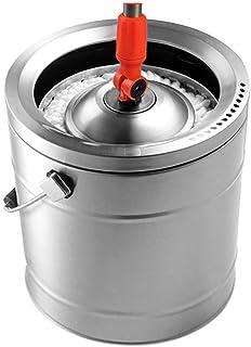 モップヘッド洗浄ワンピースオールスチールステンレス鋼回転モップバケットシングルバレルタッピングマルチモップヘッド(サイズ:4モップヘッド)