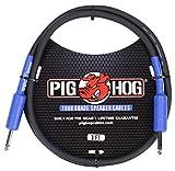 Pig Hog PHSC3 High Performance 14 Gauge 9.2mm 1/4' Speaker Cable, 3 Feet