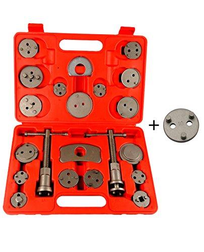 Dispositif de Remise à Zéro Coffret Repousse-Pistons de Frein Outil de Réinitialisation Set Piston Arrière 21 Pièces Neuf CBR21-13