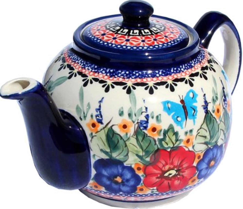 Polish Pottery Teapot From Zaklady Ceramiczne Boleslawiec Capacity  5 Cups