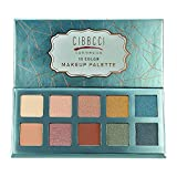 CIBBCCI 10 Colors Matte Shimmer Vibrant Eye shadow Palette Easy to Blend Ultra Pigmented Powder Professional Eye Makeup Cosmetics