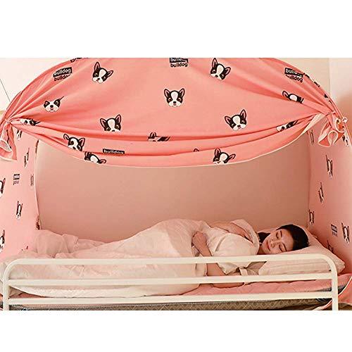 Mosquitera Mosquiteras para estudiantes de pregrado, literas para cama individual, con cremallera inferior, Yurta (tamaño: 80 x 190 x 100 cm)