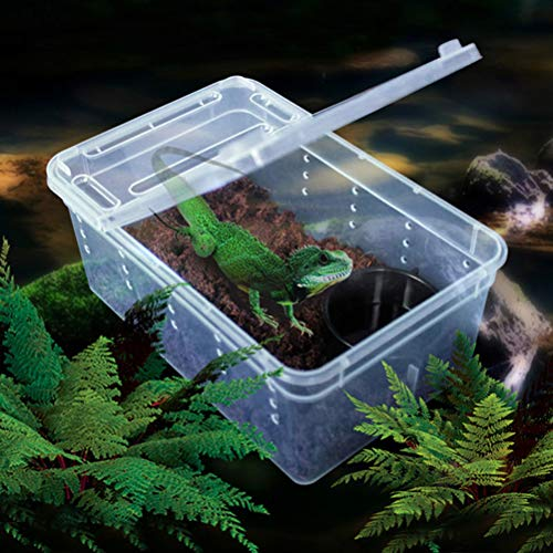 UEETEK爬虫類飼育ケース昆虫飼育ケースプラスチッククモサソリヤモリヘビカメクワガタ飼育ケージ