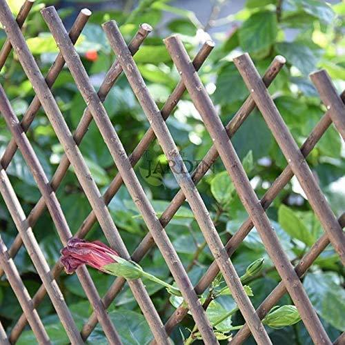 Suinga CELOSIA de MIMBRE 50 x 150 cm para jardín. Seto artificial extensible.