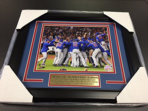 2016 CHICAGO CUBS WORLD SERIES CHAMPIONS TEAM PHOTO 8X10 FRAMED CELEBRATION