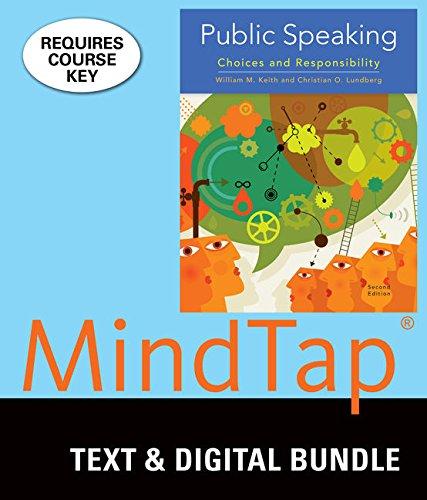 Bundle: Public Speaking, Loose-leaf Version, 2nd + LMS Integrated for MindTap Speech, 1 term (6 months) Printed Access C