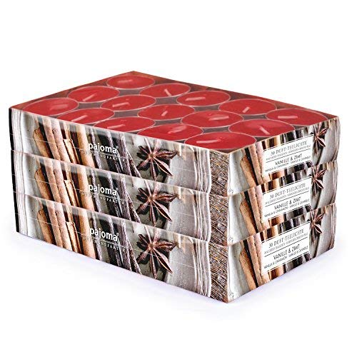 pajoma 90 Duft Teelichter 3x30 Stück Duftkerzen viele Düfte wählbar (Vanille & Zimt)