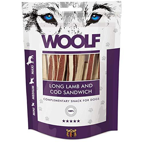 Woolf Sandwich Agneau et Cabillaud – Snack pour chien 100% naturel
