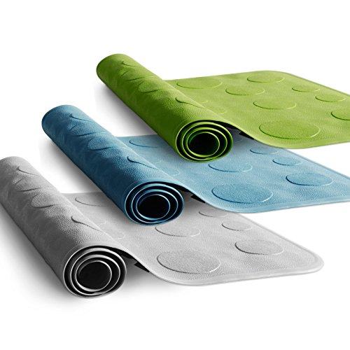 etm® Badewanneneinlage Victoria | rutschfest | aus Naturkautschuk, PVC-frei | 35 x 75 cm | drei Farben (weiß)