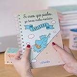 La Mente es Maravillosa - Cuaderno A5 (Si crees que puedes, ya tienes media montaña superada) Regalo para amiga con dibujos (Diseño Corredor)