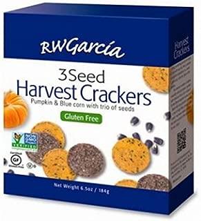 R. W. GARCIA, Crackers, 3 Seed Harvest, Pack of 6, Size 6.5 OZ, (Gluten Free Kosher Vegan Wheat Free)