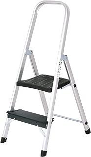 Giantex Aluminum 2 Step Ladder Folding Stepladder with Non-Slip Pedal 330lbs Capacity Work Platform Portable Step Stool