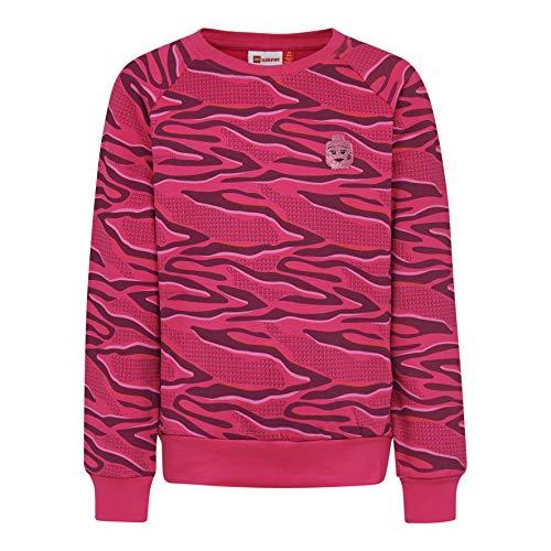 Lego Wear Mädchen LWSIMONE 759-SWEATSHIRT Sweatshirt, Rosa (Dark Pink 496), (Herstellergröße: 116)