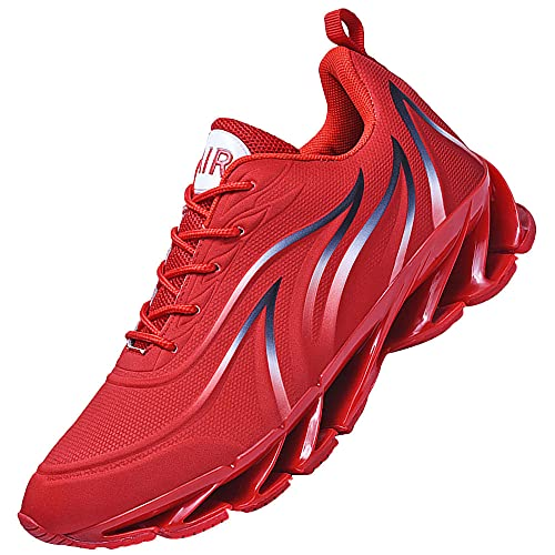 Athletic Running Shoes for Mens Tennis Sneakers,Walking Casual Shoes Athletic Gym Shoes,Red_43