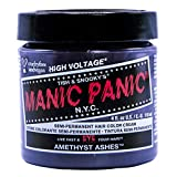 Manic Panic Amethyst Ashes Hair Dye – Classic High Voltage - Semi-Permanent Hair Color - Smokey Grey With Cool Purple Tones – Vegan, PPD & Ammonia Free - For Coloring Hair on Women & Men