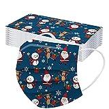 G1OO 30 Stück Erwachsene Weihnachten Mundschutz Multifunktionstuch Weihnachtsmotiv Einweg MNS Mund Nasenschutz Rentier Motiv Maske Tücher 3-lagig Atmungsaktiv Mund-Tuch Halstuch