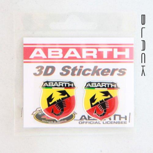 Stickers 3D-logo Abarth klein. 21531.