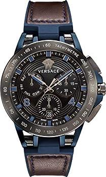Versace Sport Tech Chronograph Tachymeter Black Dial Men's Watch