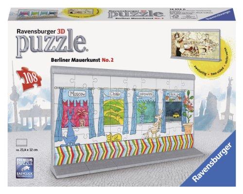 Ravensburger 12574 - Berliner Mauerkunst No.2, 108 Teile 3D Puzzle-Bauwerke