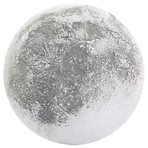 Romantische 3D Mond Lampe - 10 Zoll LED Mondlicht Lampe Luna Mondlampe mit Fernbedienung und 12 Mondphasen, 3D Mond Nachtlicht Mond Wandleuchte Beste Geburtstag Weihnachten Geschenke für Kinder (AA)