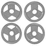 N/A' Standard Weight Plates, 2 inch Olympic Weight Plates, Cast Iron Grip Barbell Weights for Strength Training, Weightlifting & Body tonging, 5/11/17/22/33/44 Lbs Bumper Plates, Single, Pair or Set