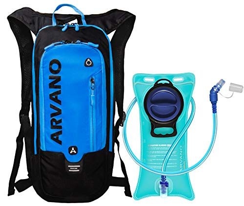 Arvano 6l Sac à Dos VTT, Sac à Dos d'hydratation avec 2l Poche à Eau, Sac à Dos de Vélo Respirant et Léger, pour Course, Cyclisme, Randonnée, Running et des Sport de Plein Air (Bleu)