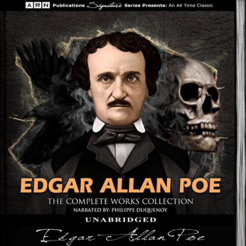 Edgar Allan Poe - The Complete Works Collection                   By:                                                                                                                                 Edgar Allan Poe                               Narrated by:                                                                                                                                 Philippe Duquenoy                      Length: 48 hrs and 26 mins     150 ratings     Overall 4.0