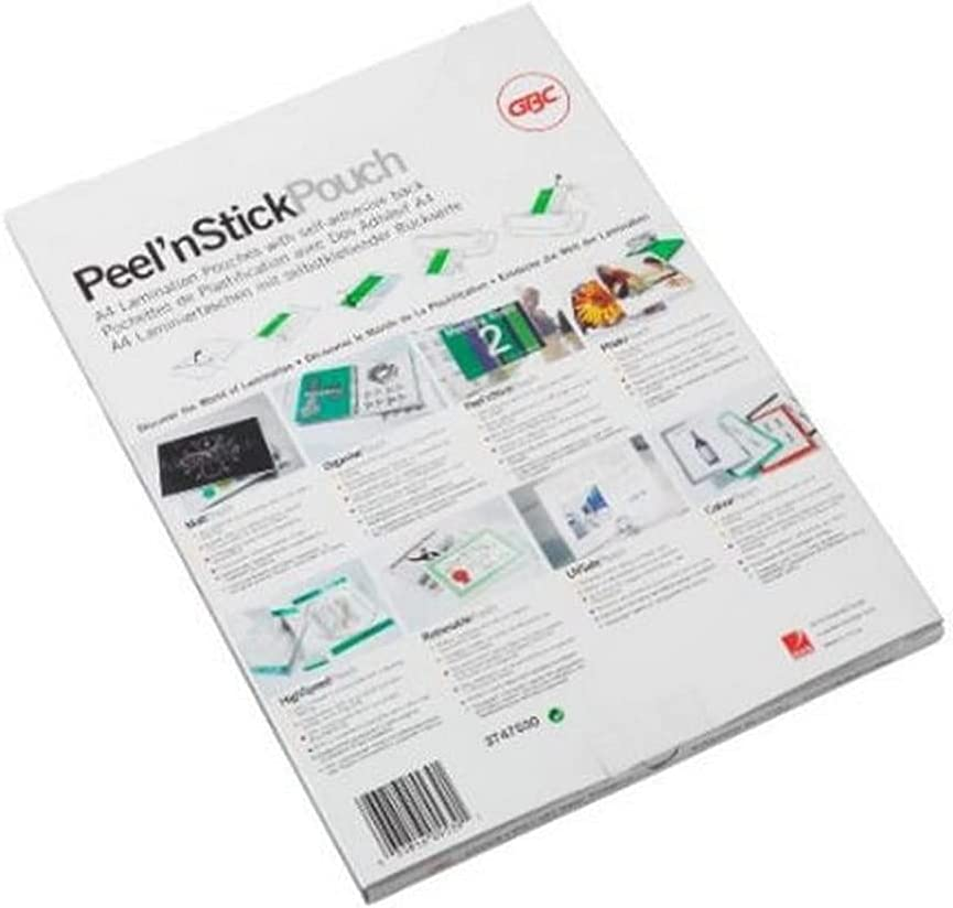 GBC Peel N Stick Laminating Ranking TOP4 Pouches 2X125 Micron A4 P 100 Fixed price for sale Gloss