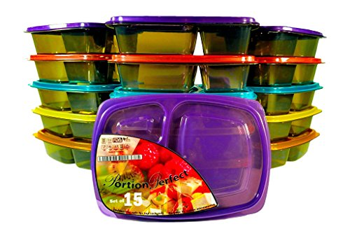 PORTION PERFECTÃ'Â Meal Prep Containers / Portion Control Containers /...