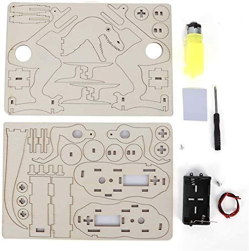Modelo mecánico de dinosaurios, conjunto de bricolaje caminata eléctrica Dinosaurio Modelo de...